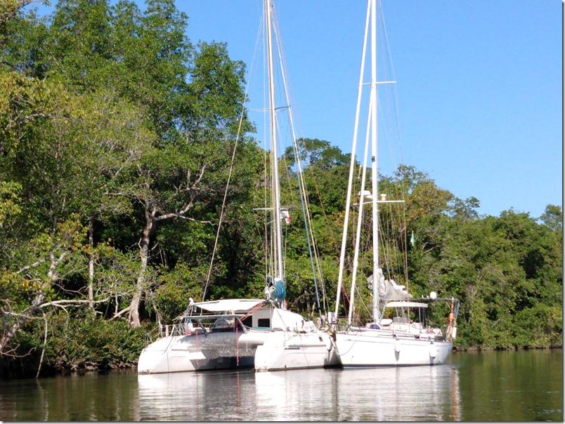 Dec 11th - Zoe moored next to the catamaran
