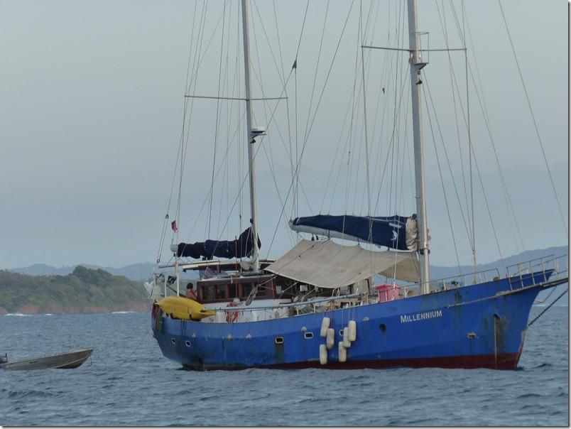 Dec 8th - Sailboat at the anchor at Isla Santa Catalina